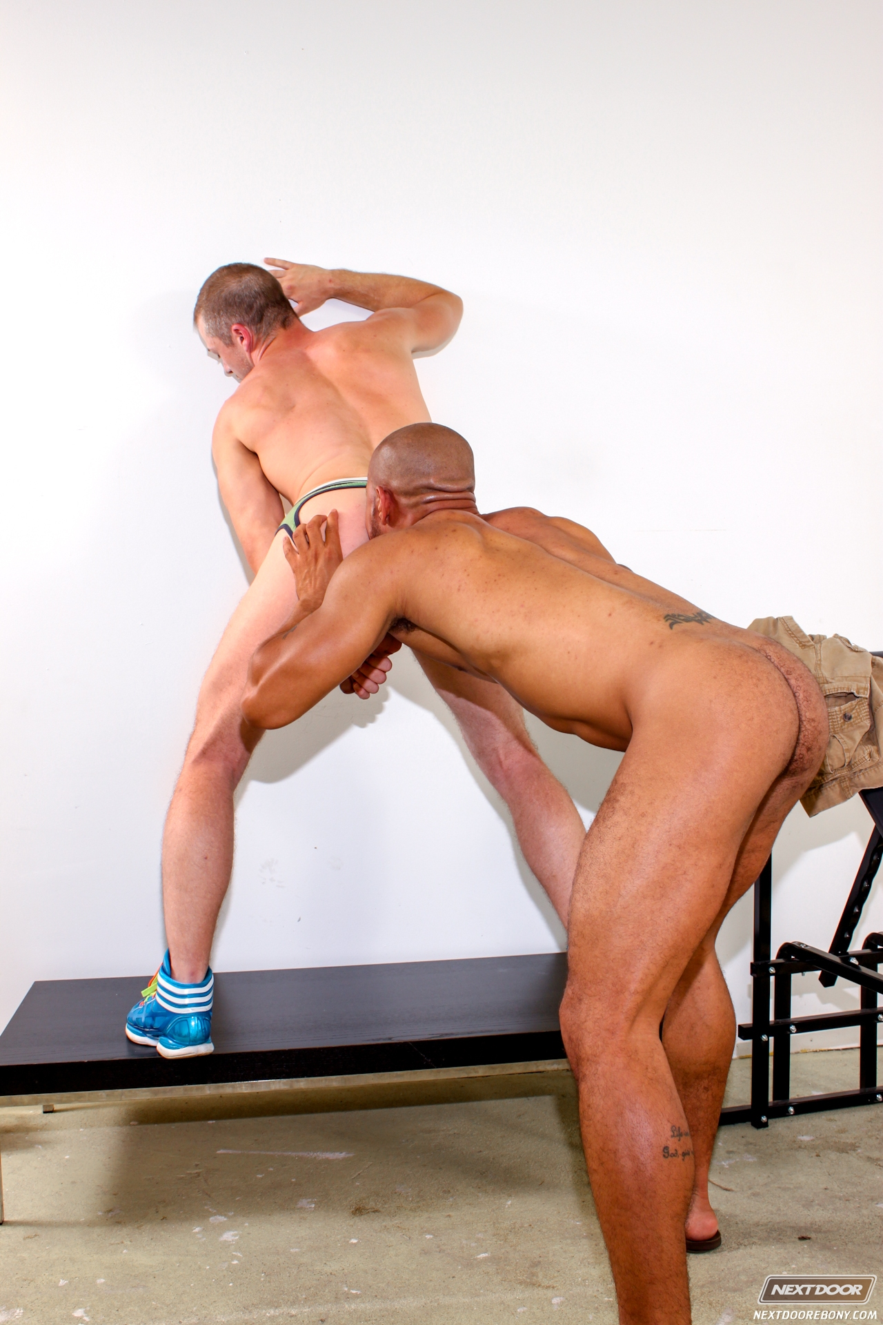 Gay muscular posing