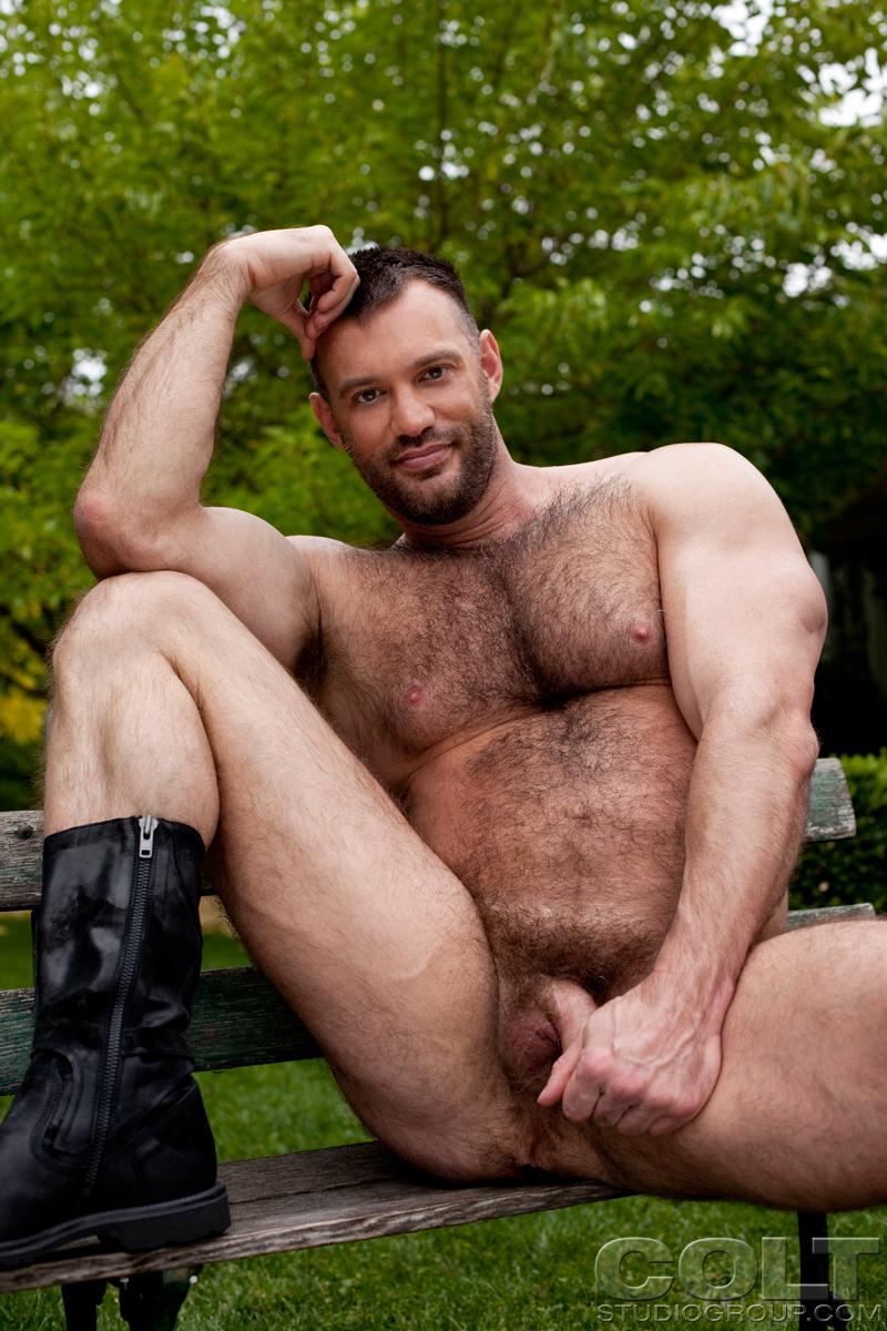 image Muscular beefy hunks enjoying love feast the